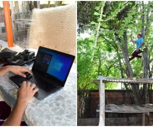 La historia de Tomás Gutiérrez conmocionó las redes sociales, hoy tiene su computador para seguir con sus clases.