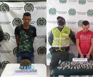 Los capturados y el estupefaciente incautado fueron dejados a disposición de las autoridades competentes