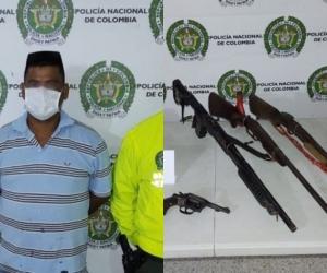 Oscar Herrera fue capturado y deberá responder por el delito de tráfico, fabricación o porte de armas de fuego y municiones.