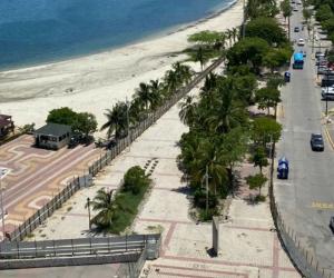Camellón de la bahía en Santa Marta.