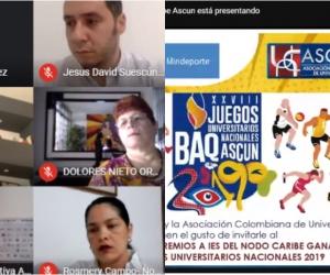 El acto de premiación a las IES del Nodo Caribe se llevó a cabo de manera virtual con la participación del ministro del Deporte, Ernesto Lucena.