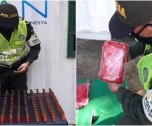 La incautación se dio mediante acciones de control aduanero que se desarrollan en la vereda Las Tinajas.