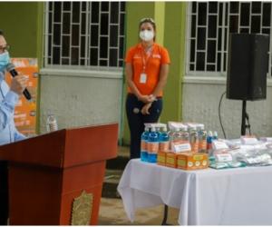 Los 5 mil kits de EPP entregados al Hospital Santander Herrera tienen un valor de 420 millones de pesos.