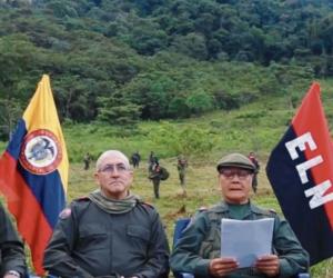 Miembros del COCE del ELN.