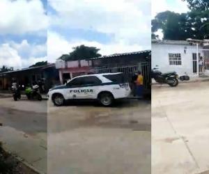 Varias patrullas de la Policía llegaron al lugar de los hechos.