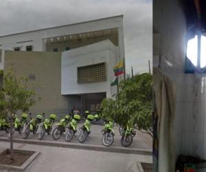 Los cuatro capturados se volaron por este hueco que hicieron en la celda de la Estación de Policía de Soledad 2000.