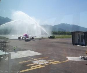 Primer vuelo que llegó a Santa Marta tras el aislamiento obligatorio.