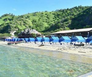Así luce Playa Blanca, en Santa Marta, previo a la reapertura.
