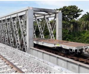 El puente de 60 metros de longitud fue construido por más de 70 trabajadores, a pesar de las dificultades que se presentaron en medio de la pandemia generada por el covid-19.