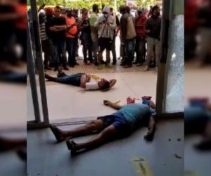 Una persona falleció en la entrada del Éxito de Magangué.