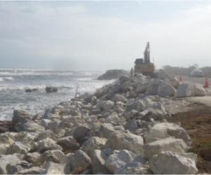 Ruta del Sol II interviene kilómetro 19 por aumento de la erosión en la carretera.
