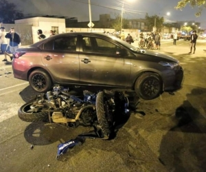 Lugar del accidente.