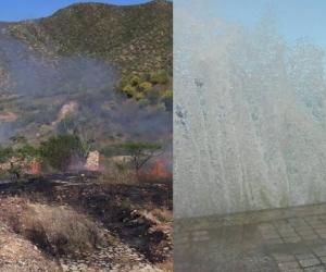 La temporada seca generalmente ocasiona incendios y altos oleajes por los vientos.