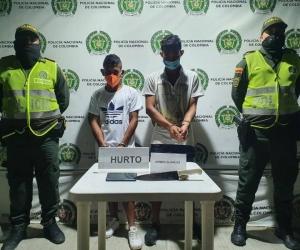 Frederick Hidalgo Contreras, de nacionalidad venezolana y Eduardo José Linero Restrepo, fueron capturados.