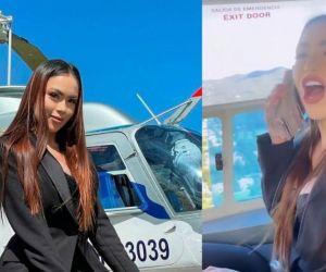 """""""Amo ser como soy, muchos me critican. Pero hoy bote dinero desde un helicóptero"""", aseguró con el post en Twitter."""