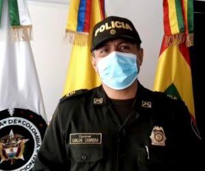 Coronel Carlos Cabrera, subcomandante Policía Metropolitana de Barranquilla.