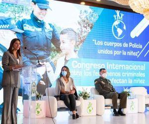 a Primera Dama, María Juliana Ruiz,  participó en en el Congreso Internacional contra los Fenómenos Criminales