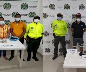 Tres capturados en los operativos.
