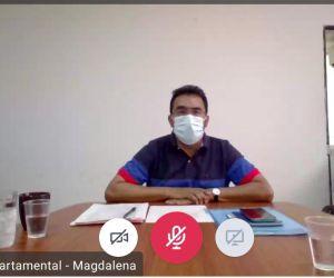 Imagen de la reunión de este martes para establecer el plan de vacunación en el Magdalena.