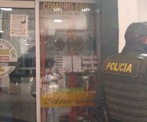 Joyería asaltada en Santa Marta.