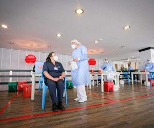 Proceso de vacunación en Tunja.