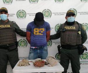 El capturado, Jorge Luis Imitola.