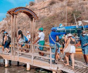 Turistas en Santa Marta