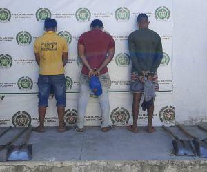 Los hombres fueron capturados por los Carabineros.
