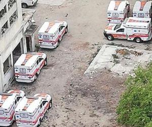 Ambulancias adquiridas bajo la administración Caicedo.