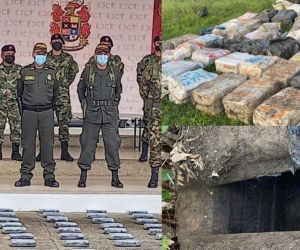 Material incautado en Chocó.