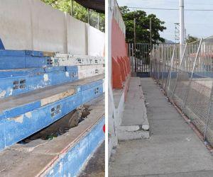 Estado de las canchas en Santa Marta.