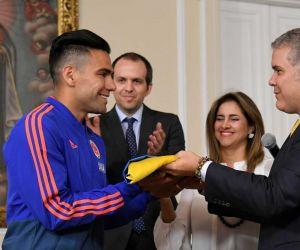 Iván Duque y Radamel Falcao.