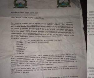 Panfleto de las ACS.