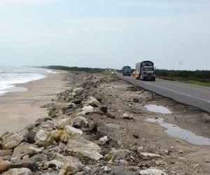 Erosión costera en Magdalena.