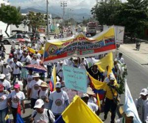 Ciénaga prohibió marchas pero no concentraciones.