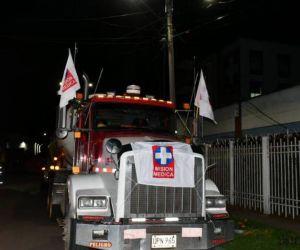 Misión médica de la Cruz Roja.