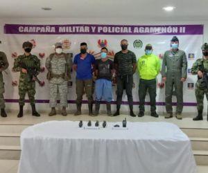 Los tres hombres fueron capturados en flagrancia.