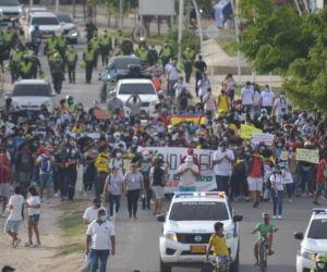 Protestas en el marco del paro nacional
