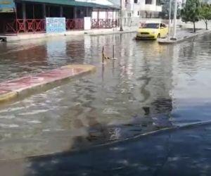 Así luce la avenida Tamacá con calle 18 en la mañana de este domingo 23 de mayo.