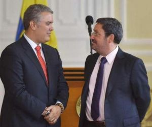 Presidente Iván Duque y Francisco Santos