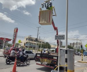 Cámaras fotomultas en Santa Marta.