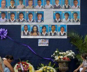 Mural en honor a las víctimas de la tragedia.
