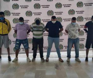 Presuntos integrantes de 'Los Lisos'.