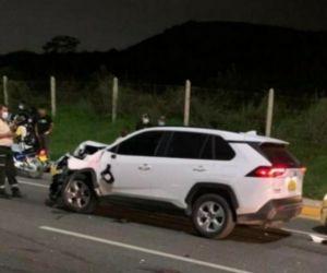 El vehículo implicado en el accidente.