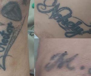 Tatuajes del hombre internado en la clínica Campbell.