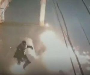 Policía atacado.
