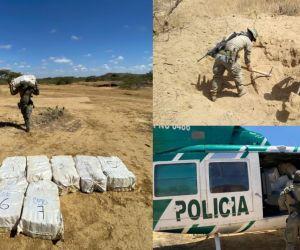 Droga hallada en La Guajira.