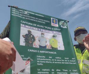 La captura de este sujeto se efectuó en Cartagena.