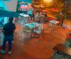 Cámaras de seguridad del restaurante donde acontecieron los hechos.