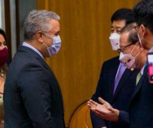 Primer día de su visita de Estado a Corea del Sur, el presidente Iván Duque.